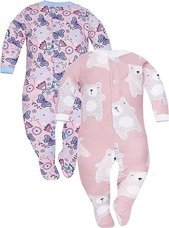 Sibinulo Niño Niña Pijama Bebé Pelele de Algodón- Tamaños 56-74 - Pack de 2: Amazon.es: Ropa y accesorios