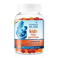 Mommy's Bliss Kids Fiber Gummies with Prebiotics and Chicory Root, Gentle Daily Fiber Supplement (Ages 3+), 60 Gummies