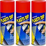 3-PACK Performix PLASTI DIP RED 11OZ Spray CAN Rubber Handle Coating