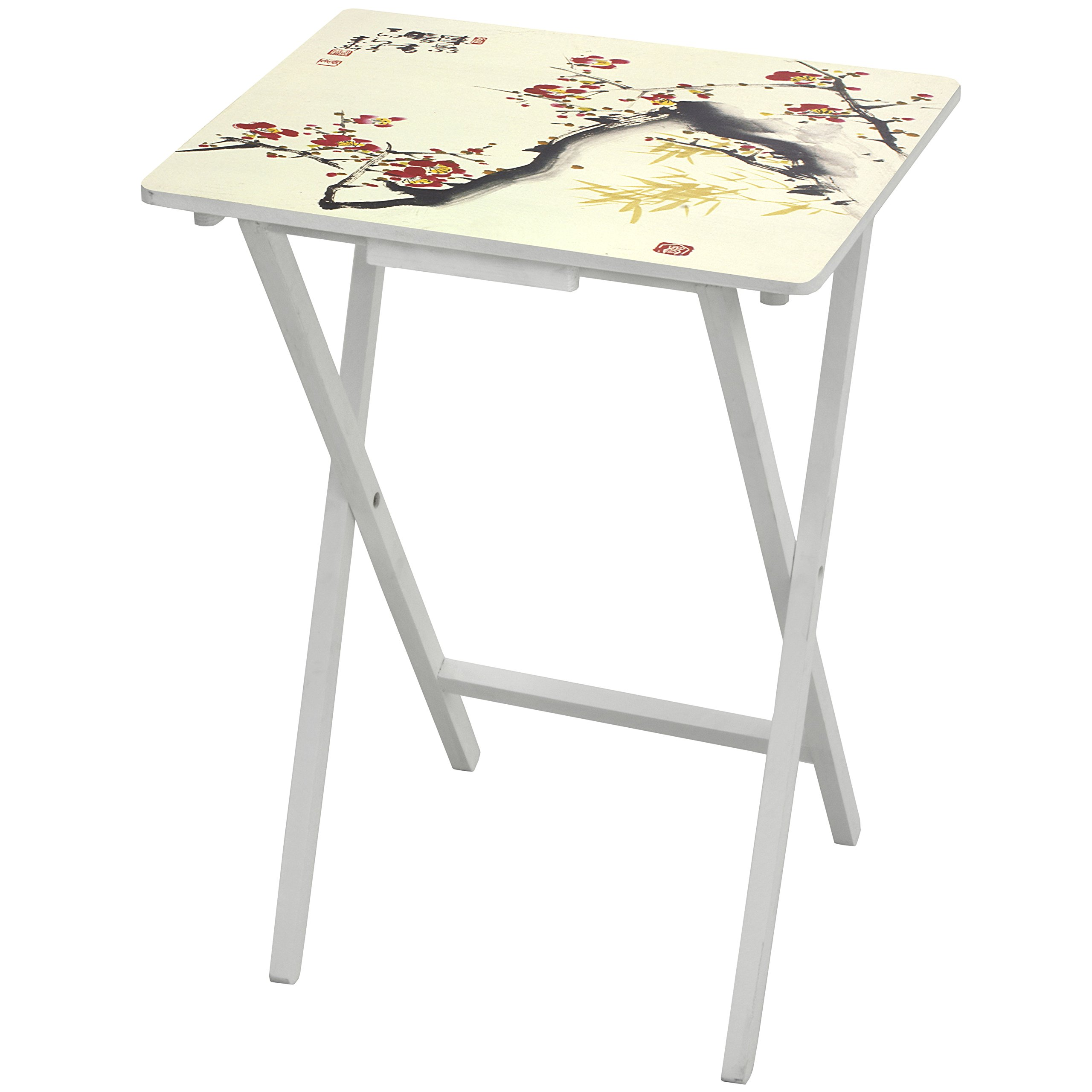 Oriental Furniture CAN-TV-LOVE-A Cherry Blossom TV Tray