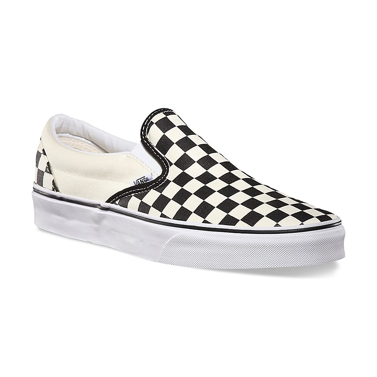 Vans Unisex-Erwachsene Classic Slip-on Slipper  48,5 EU M Damen|Black Off White Checkerboard