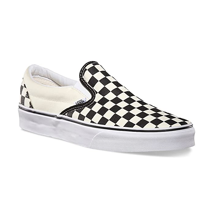 Vans Classic Slip On Sneaker Damen Herren Kinder Unisex Schwarz Weiß Kariert