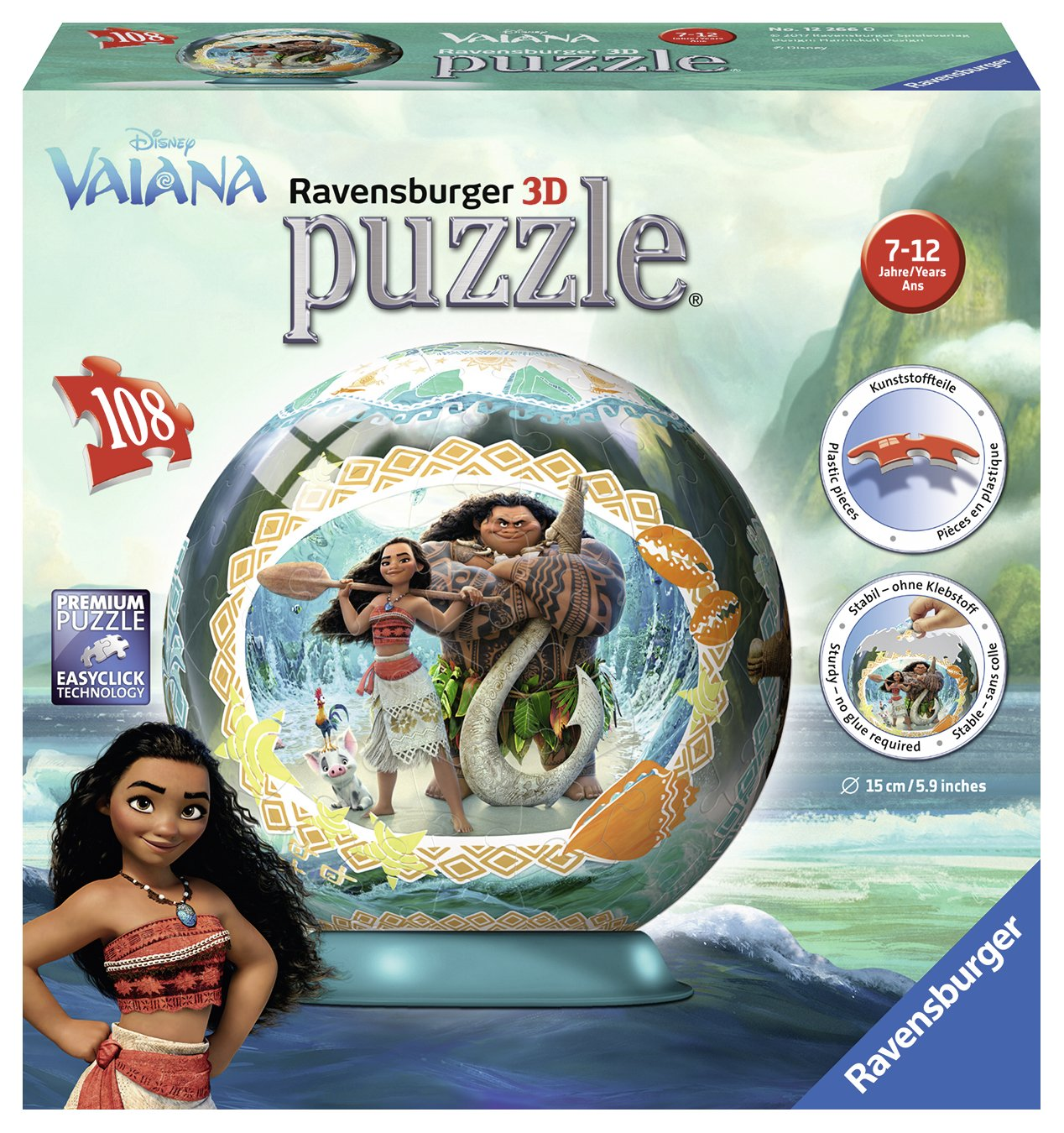 Ravensburger 12266 Disney Vaiana 3D-Puzzle Ravensburger Spieleverlag 122660