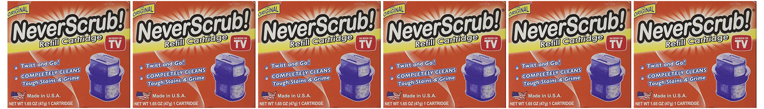 Refill Cartridge for NeverScrub System 1.65oz (6 Pack)
