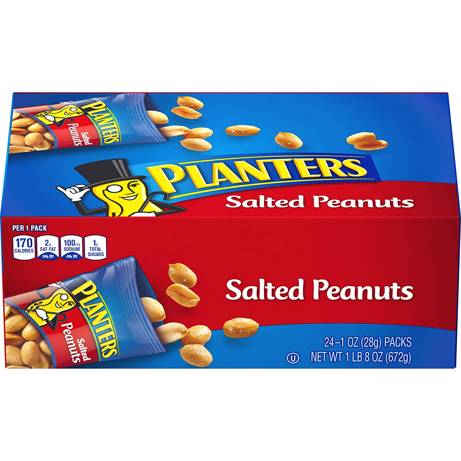 Planters Salted Peanuts, 48 Count