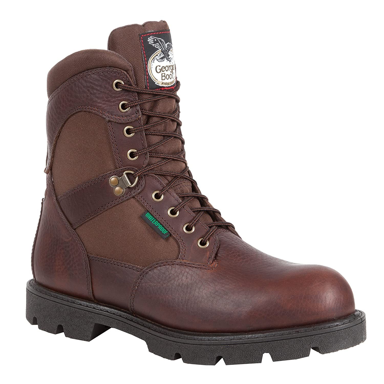 "Georgia Men's 8"" Homeland Waterproof Work Boot-G108"