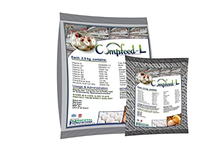 Compfeed-L, Poultry Layer Complete Feed Premix 1Kg by Anfotal