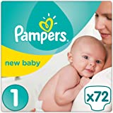 Pampers - New Baby - Couches Taille 1 (2-5 kg) - Jumbo Pack (x72 couches)