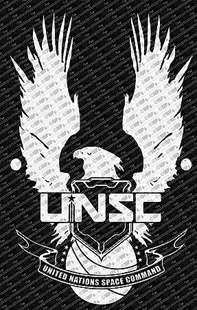 Halo Unsc Logo Wall Die Cut Vinyl Decal 18 White Decals