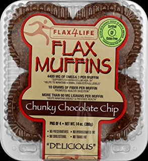 product image for FLAX4LIFE FZ Chocolate Chip Muffin, 14 Ounce (Pack of 6)