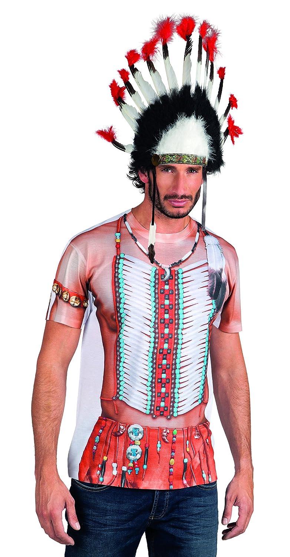 Boland 84229 - Camisa fotorrealista india, trajes para adultos ...