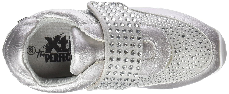 554580, Zapatillas sin Cordones para Niñas, (Silver)