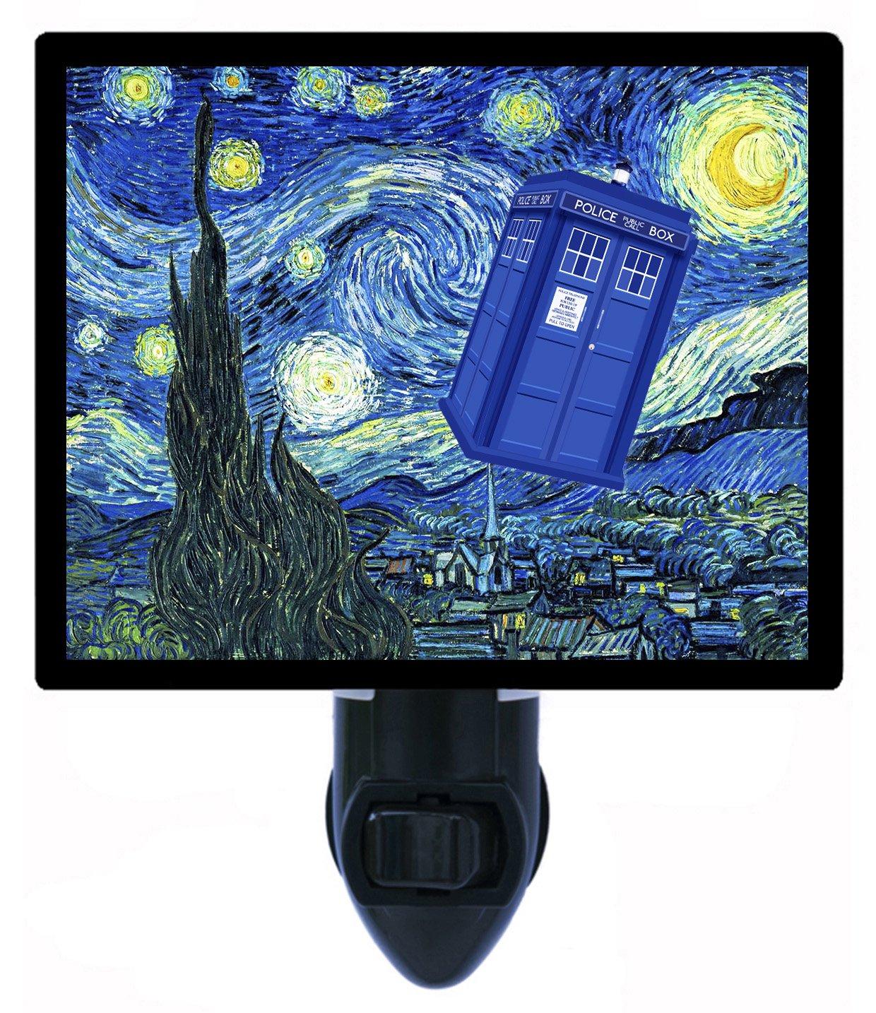 Night Light – Dr。Whoターディス –  – 星月夜van gogh B072BWWR16