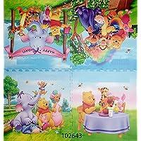 Baby Bucket EVA Foam Puzzle Floor Mat, 62x62x1 Cm , Multicolor, Set of 4