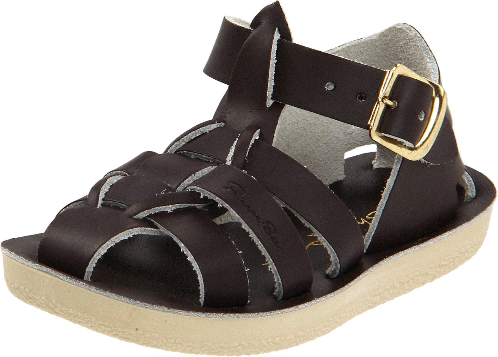 Salt Water Sandals by Hoy Shoe Sharks,Brown,7 M US Toddler by Salt Water Sandals