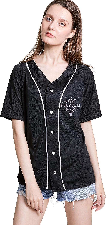 babyhealthy Kpop BTS T-Shirt Love Yourself Tear Suga Jimin Jung Kook V Tee Baseball Shirt