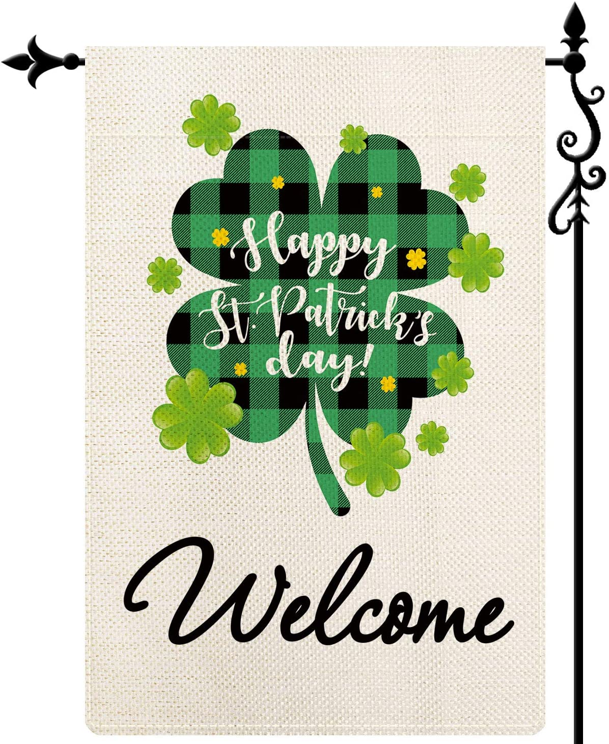 DecorMaster St Patrick's Day Small Garden Flag St Patrick's Day Gnome Garden Flag Vertical Double Sided St Patrick's Day Gnomes House Yard Outdoor Decoration 12.5x18 inch