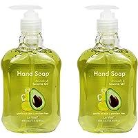 Set of 2 Le Vital Hand Soaps - Avocado & Sesame Oil - 13.52 Fluid Ounces (2 Bottles of Hand Soap)