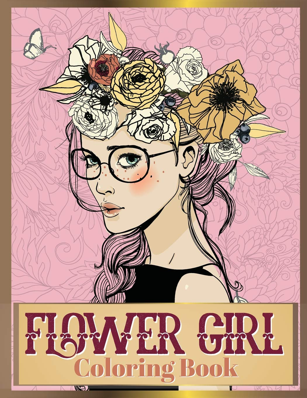 Amazon.com: Flower Girl Coloring Book: Beautiful Floral & Girl ...