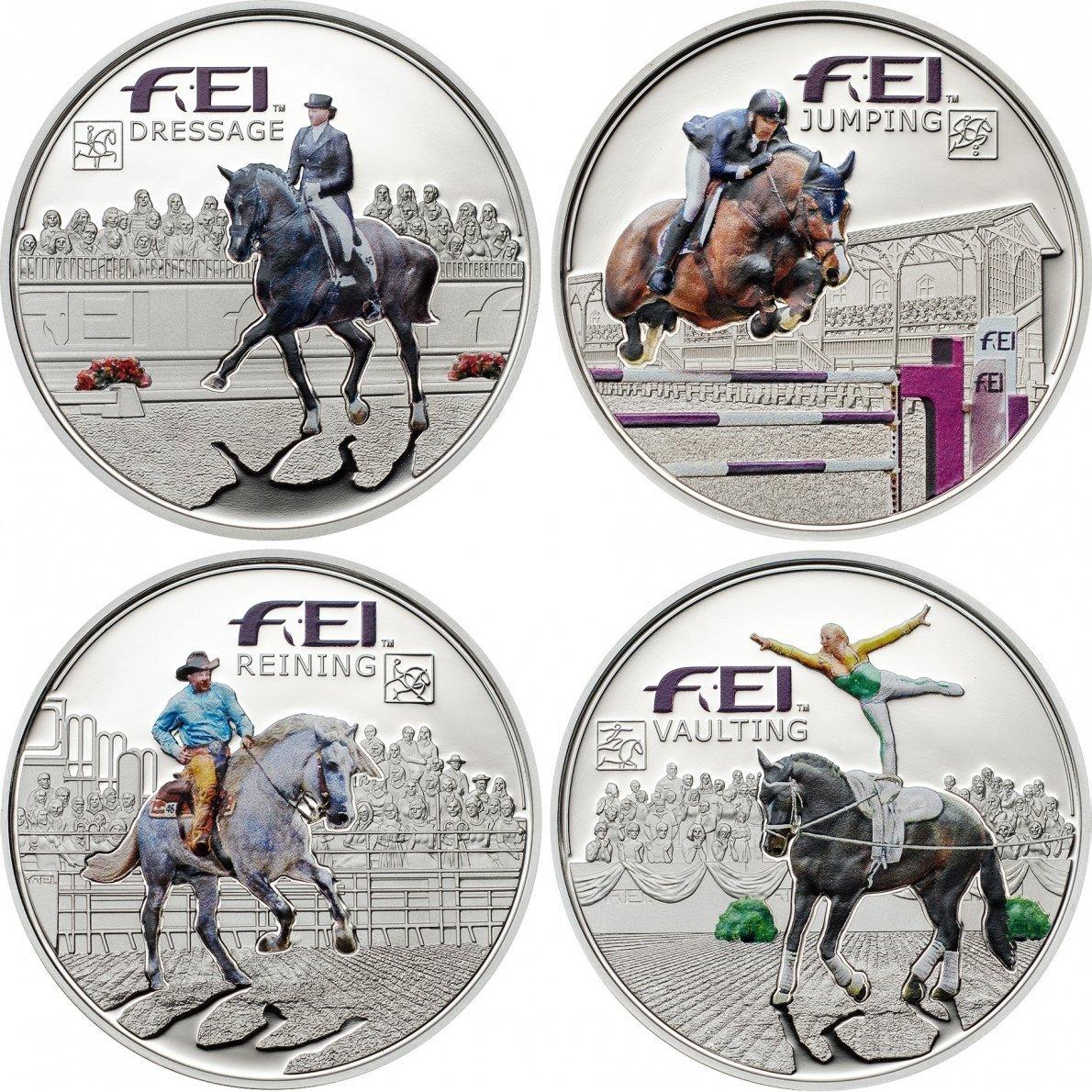 FEI 5 Diners Diners Diners 4-Silbermünzen Set - Andorra 2013 42d281