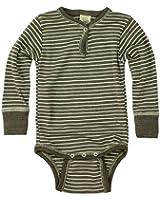 Wolle-Seide Baby Body mit Druckknopf - Wollbody von Engel