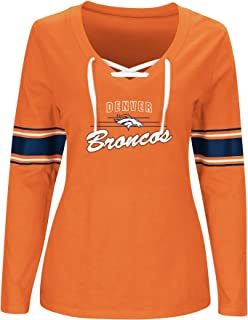 NFL TEAM APPAREL Damen hern7y9am Broncos LT Gewicht Fleece Panel shouldert-heathergrey-2X
