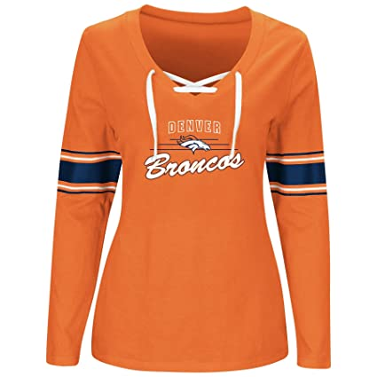 3ceda931f Amazon.com   NFL Womens Broncos L S Jersey V Neck TEE   Sports ...