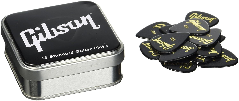 Plektrum Standard Heavy Pick Tin 50 Standard Picks Gibson