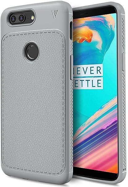 OnePlus 5T Funda, KuGi anti-rasca la Carcasa del teléfono TPU del de la imitación ninguna Case del teléfono móvil caja del teléfono Cover para OnePlus ...