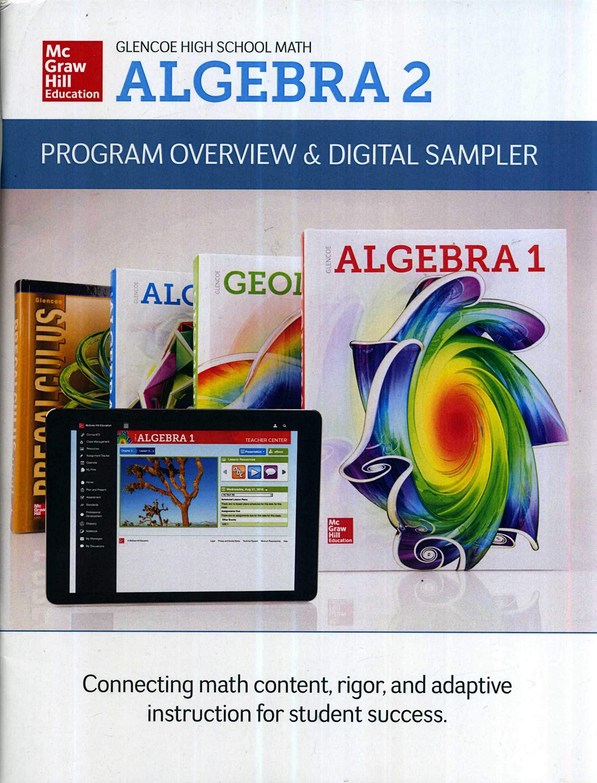 Glencoe High School Math Algebra 2 Program Overview and
