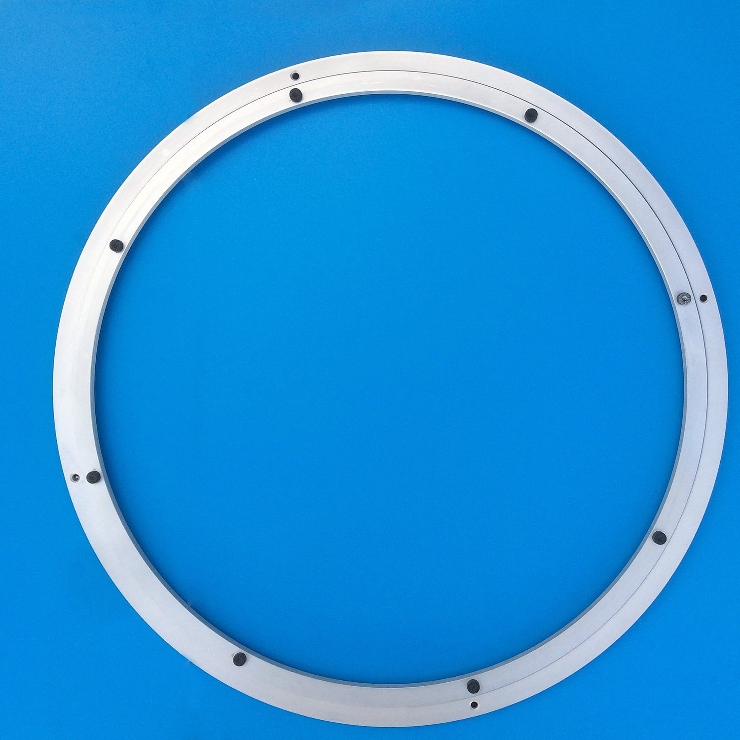Heavy-Duty Aluminum Lazy Susan Ring/Turntable with Single-Row Ball Bearings for Heavy Loads, 31.5-Inch