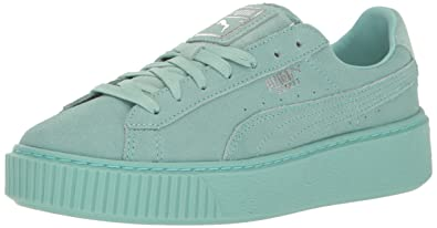 5f219fd1f6e5a5 PUMA Basket Platform Explosive Women s Trainers (363627)  Amazon.co ...