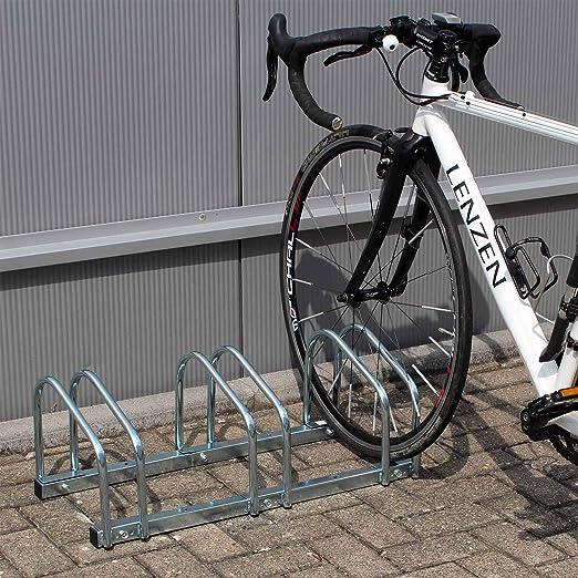 WilTec Soporte 3 Bicicletas Aparcamiento bicis Aparcabicis ...