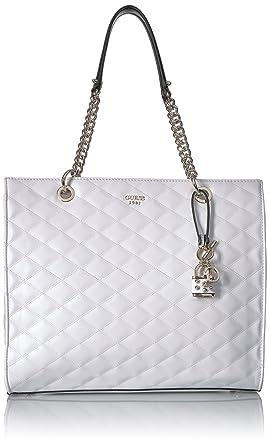 GUESS Penelope Shopper, white: Handbags: