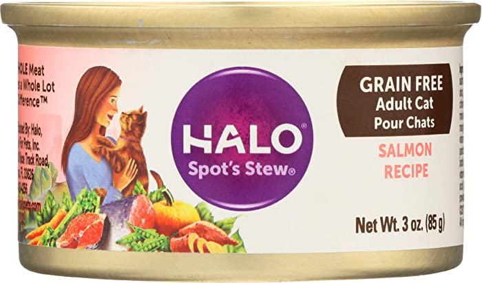 Halo Spot's Stew for Cats, Succulent Salmon Recipe, 3 Ounce