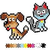 Fat Brain Toys Jixelz 700 pc Set - Pet Pals - Jixelz 700 pc Set - Playful Pets Arts & Crafts for Ages 6 to 10