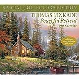 Thomas Kinkade Special Collector's Edition 2018 Deluxe Wall Calendar: Peaceful Retreat