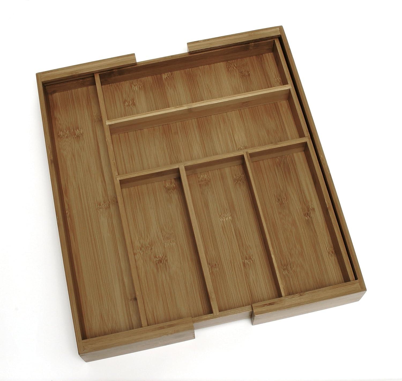 Lipper International Bamboo Expandable 23-Inch Drawer Organizer