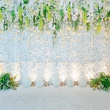 Amazon Com Ofila Wedding Backdrop 6x6ft Romantic Flowers Bride