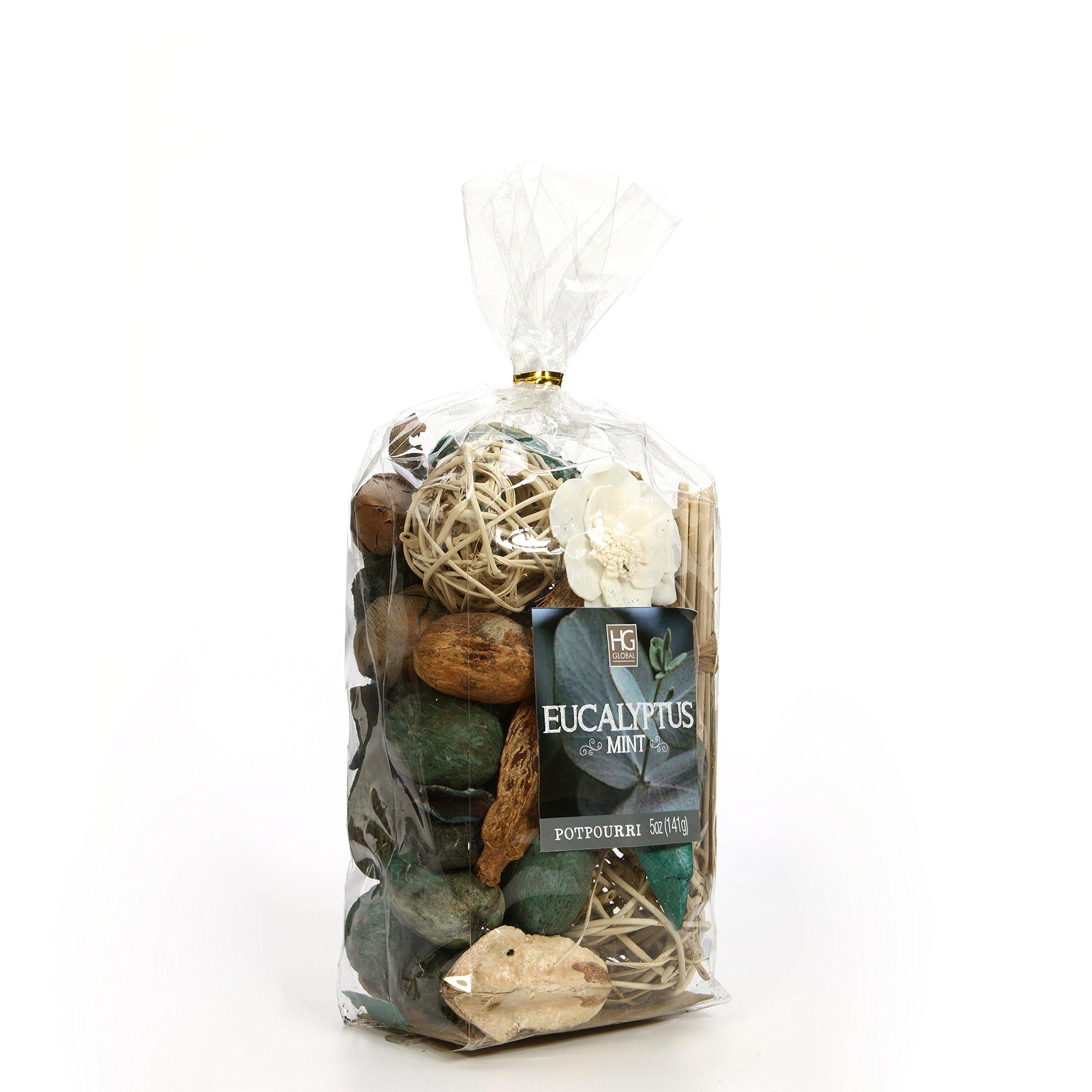 Hosley Set of 6 Bags Eucalyptus Mint Chunky Potpourri 5 Ounce Each. Ideal for Party Favor Weddings spa Reiki Meditation Bathroom Settings. O4 by Hosley (Image #2)