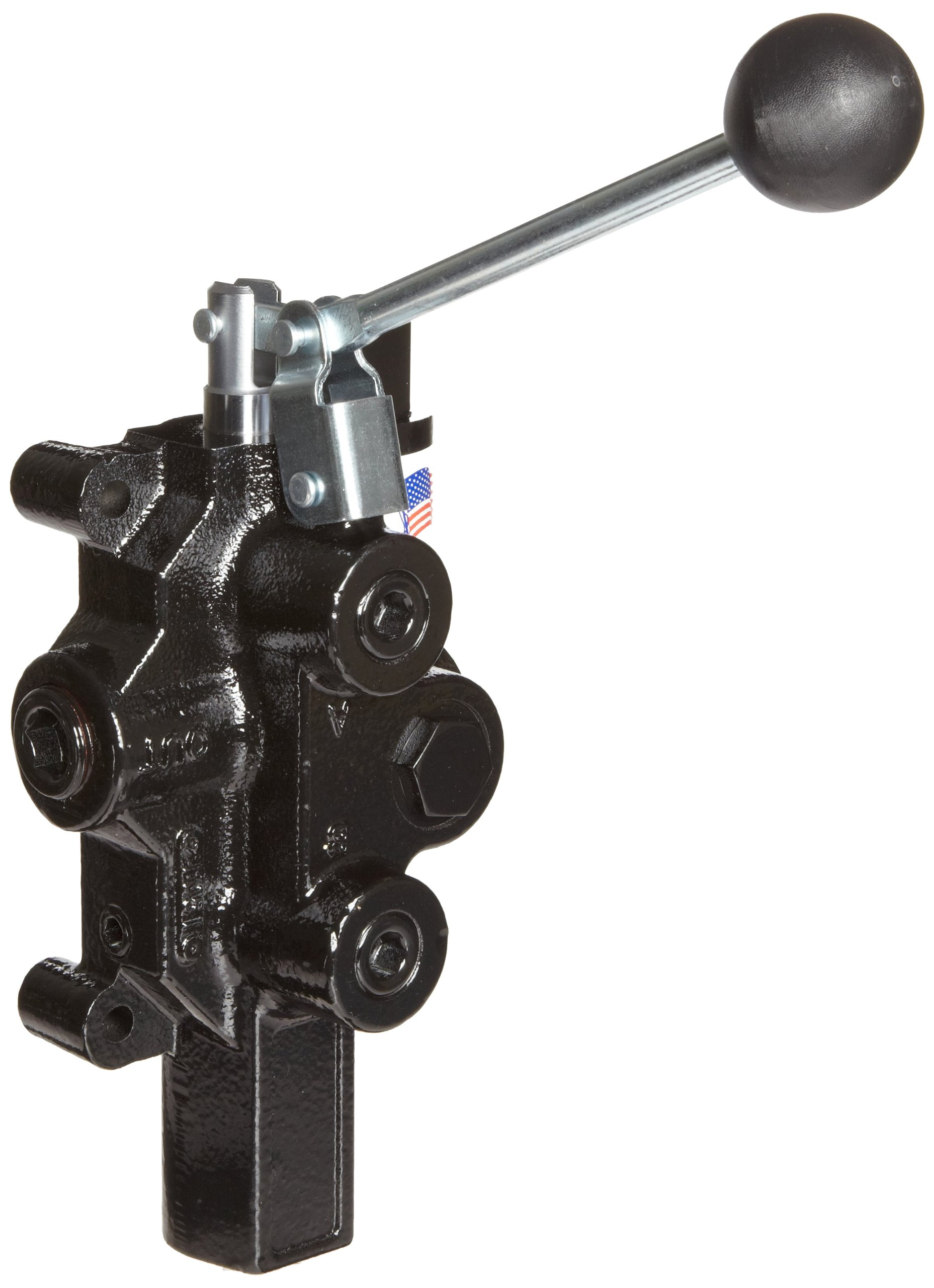 Prince RD-2575-T3-ESA1 Directional Control Valve, Logsplitter, 3 Ways, 3 Positions, Spring Center To Neutral, Cast Iron, 3000 psi, Lever Handle, 20 gpm, In/Out: 3/4'' NPTF, Work 1/2'' NPTF