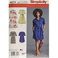 Simplicity Patterns Misses' Shirt Dress Size: U5 (16-18-20-22-24), 8014