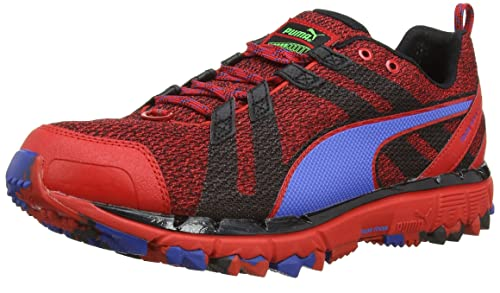 2ee7bdd03407 Puma Men s Faas 500 TR v2 Red-Black-Strong Blue Mesh Running Shoes ...