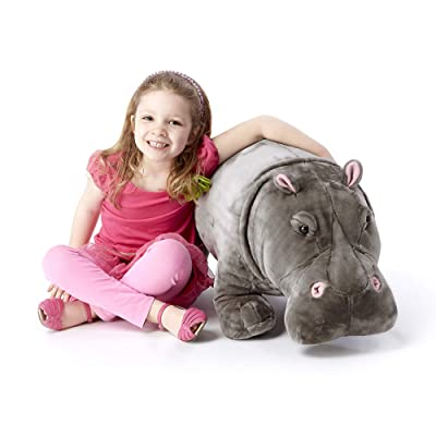 Melissa & Doug Giant Hippopotamus - Lifelike Stuffed Animal (over 2 feet long): Melissa & Doug: Toys & Games