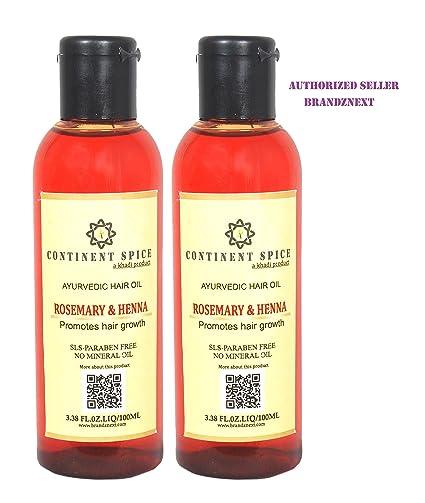 Buy Continent Spice Khadi Henna Rosemary Hair Growth Oil 100 Ml