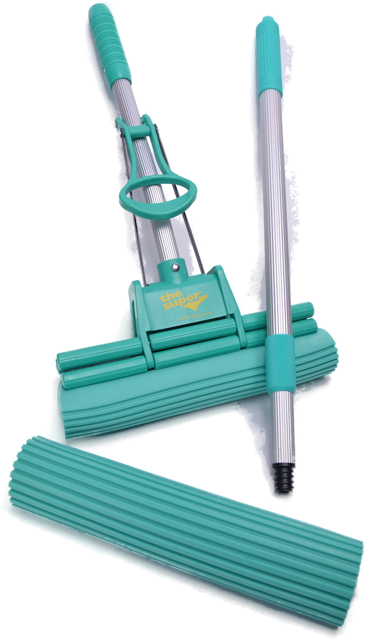 The Super Standard 11'' Double Roller PVA Sponge Mop Set (Mop and 1 Extra Refill) by The Super (Image #2)