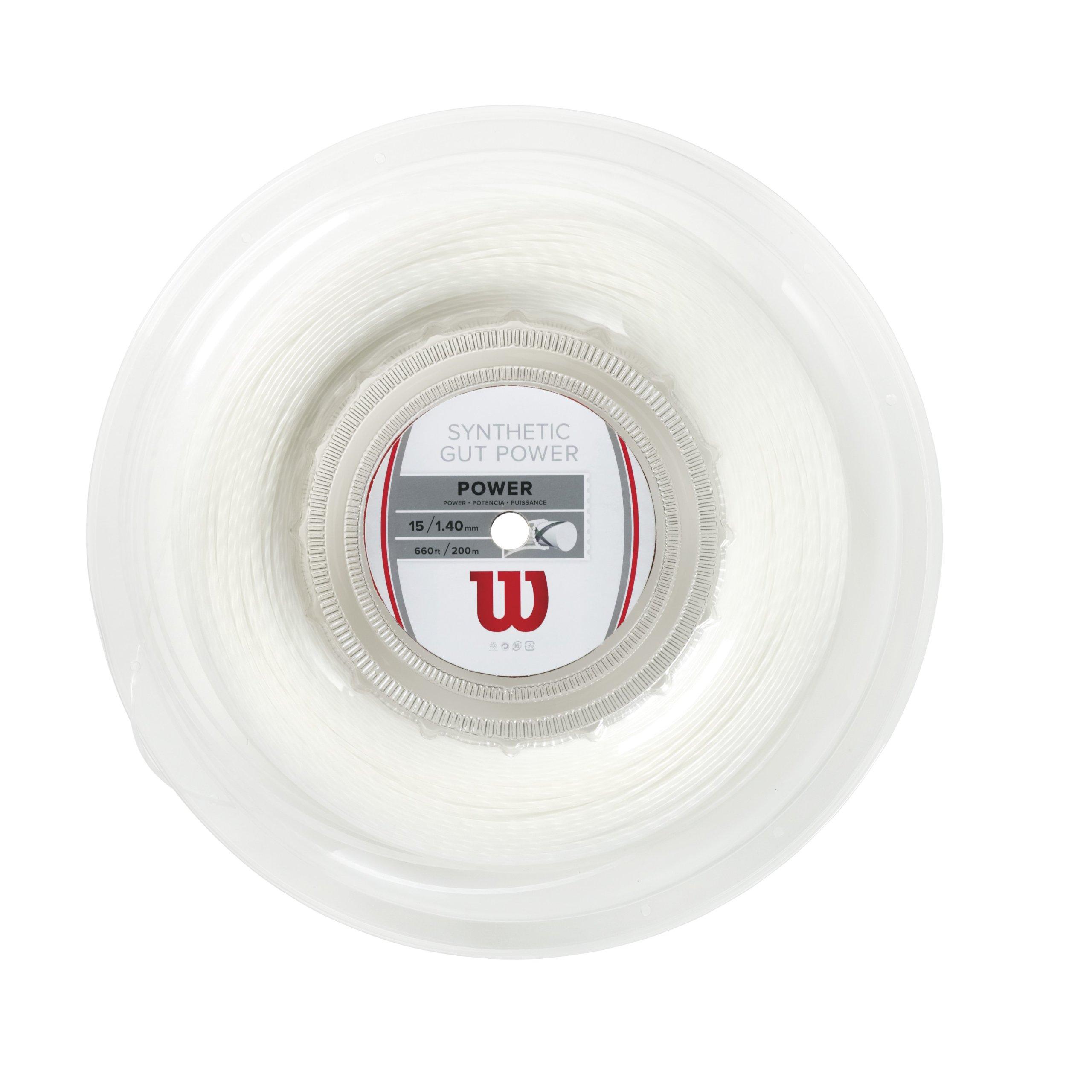 Wilson Synthetic Gut Power 660-Feet Reel, White, 15