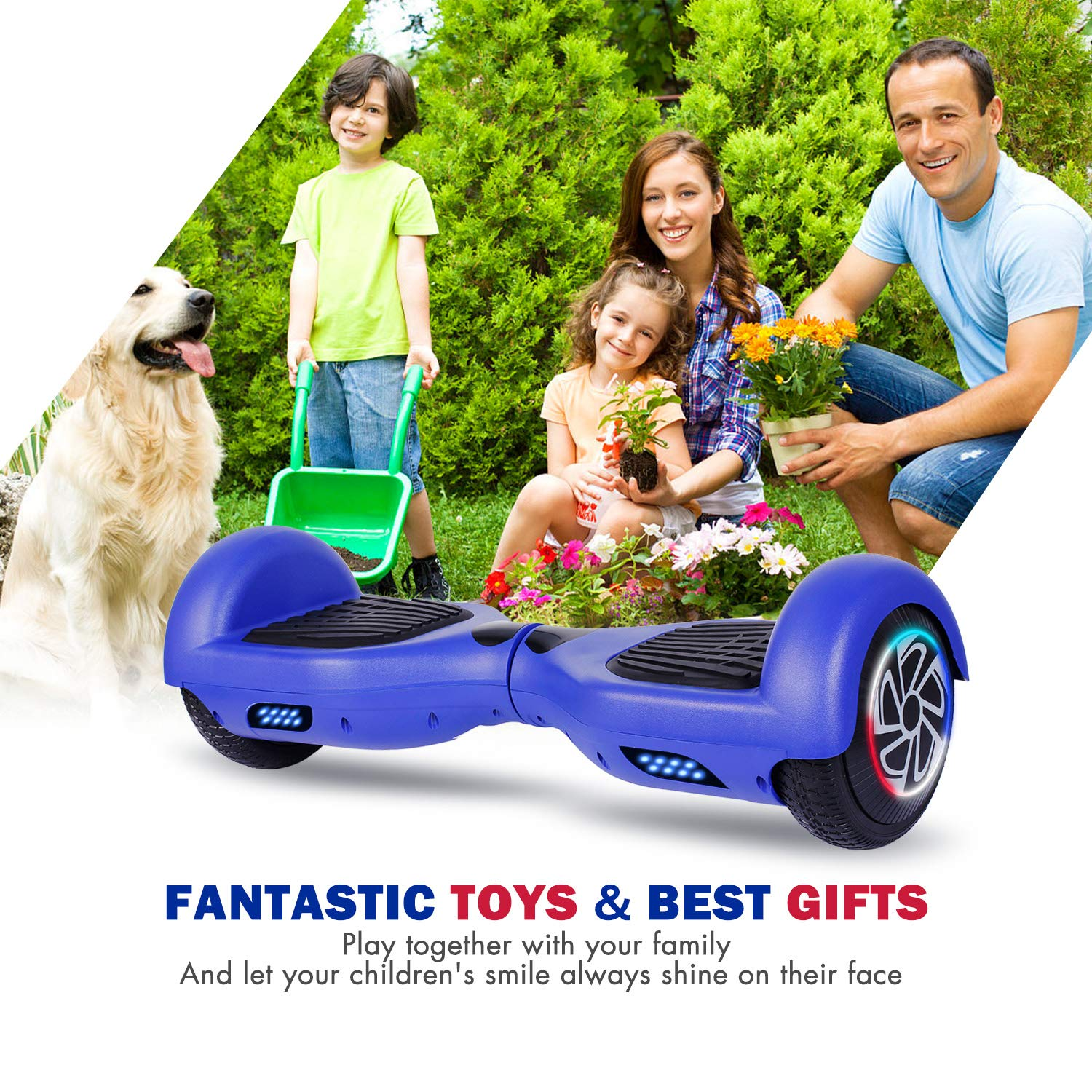 SISIGAD Hoverboard, Self Balancing Hoverboard, 6.5'' Two-Wheel Self Balancing Scooter, Smart Hover Board for Kids Gift, Adult Electric Scooter, with LED Lights and Free Carrying Bag UL2272 Certified by SISIGAD (Image #6)