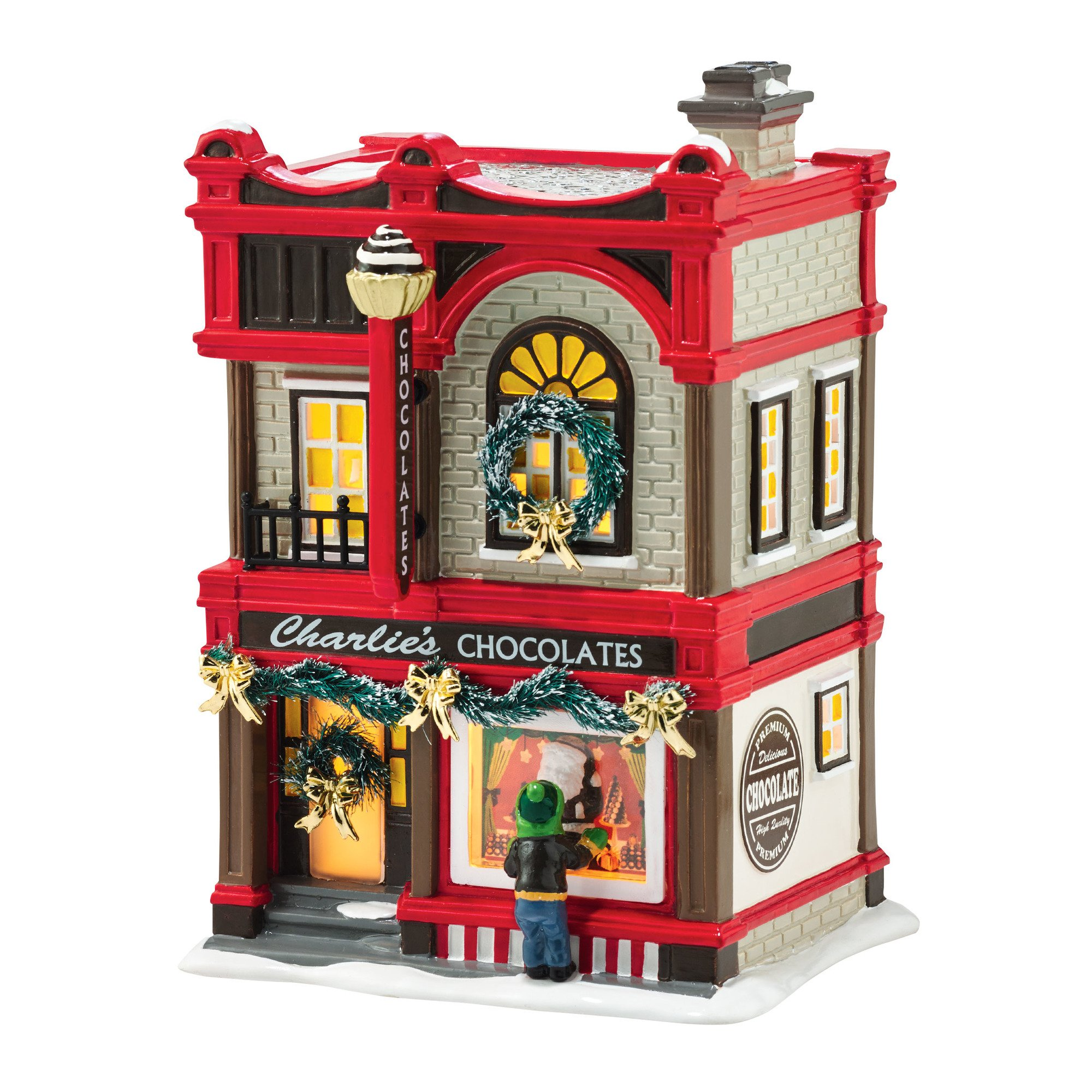 department 56 by enesco snow villagechristmas sweets porcelain lit house - Ceramic Christmas Houses