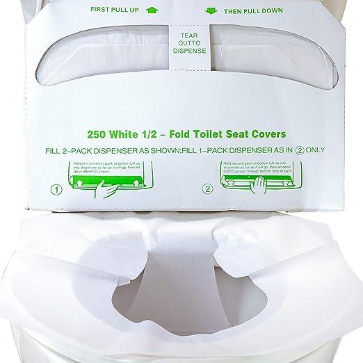 Fundas de asiento de inodoro biodegradables de medio pliegue ...